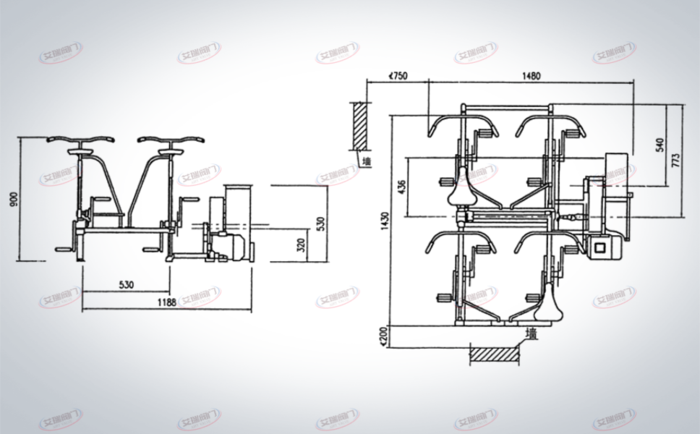 DJF-1电动脚踏两用风机安装